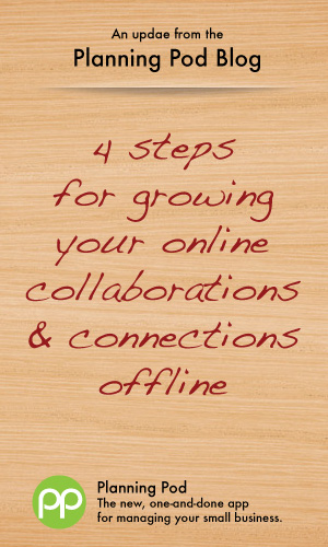Moving online collaboration and connections offline